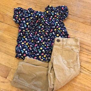 Girls Oshkosh & Cherokee Outfit. Size 2T